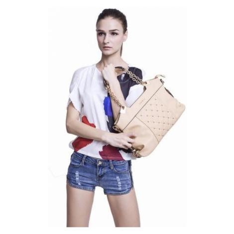 Štýlová kabelka - marhuľová