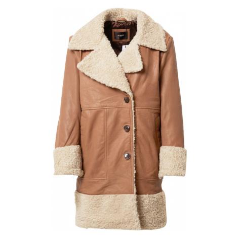 BE EDGY Prechodný kabát 'Violetta'  biela / hnedá