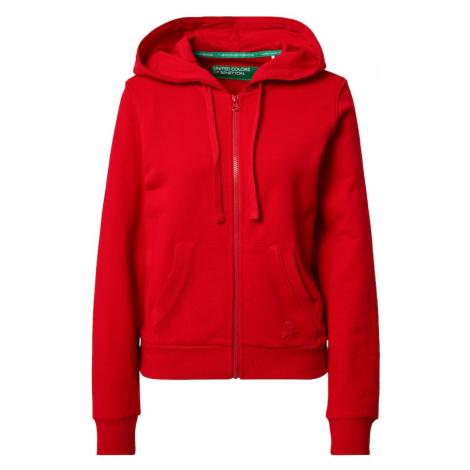 UNITED COLORS OF BENETTON Tepláková bunda  červená