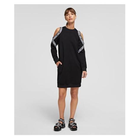 Šaty Karl Lagerfeld Cold Shoulder Sweat Dress
