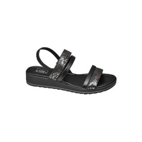 Čierne komfortné sandále Easy Street