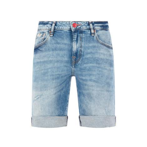 Guess Džínsové šortky M02D03 D3Y94 Tmavomodrá Regular Fit