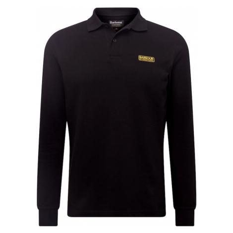 Barbour International Tričko  čierna / zlatá žltá