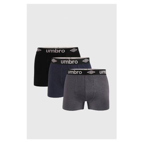 3 PACK boxeriek Umbro Organic cotton