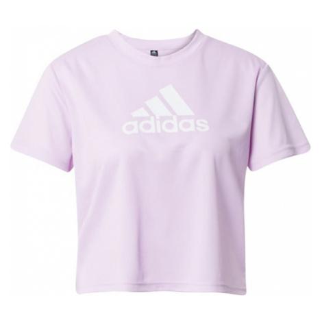 ADIDAS PERFORMANCE Funkčné tričko  fialová / biela