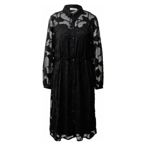 MOSS COPENHAGEN Košeľové šaty 'Serice'  čierna