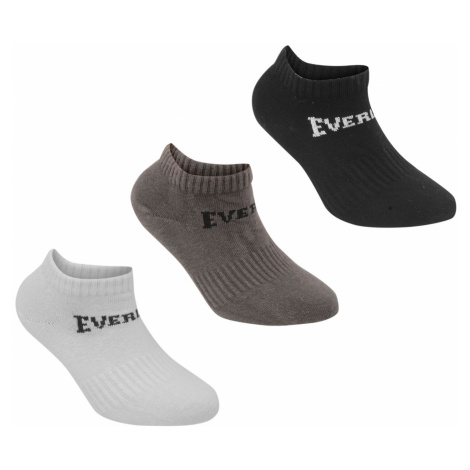 Everlast 3 Pack Trainer Socks Childrens Blk/Gry/Whi