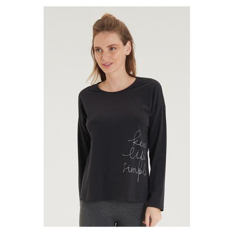 Dámske čierne tričko s dlhým rukávom Blackspade