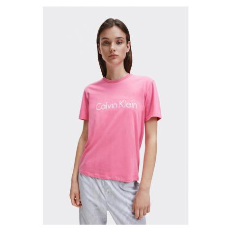 Calvin Klein logo tričko dámske - ružové