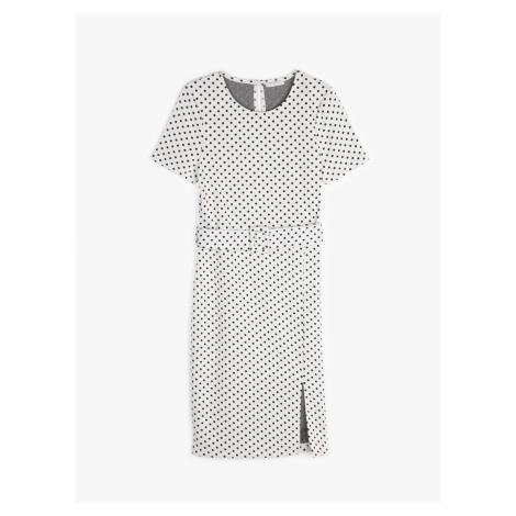 GATE Džersejové bodkované šaty