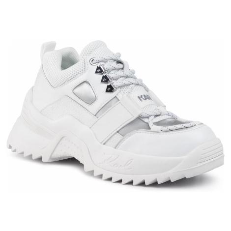 Sneakersy KARL LAGERFELD - KL61525 White Lthr/Textile