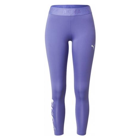 PUMA Športové nohavice  biela / fialová