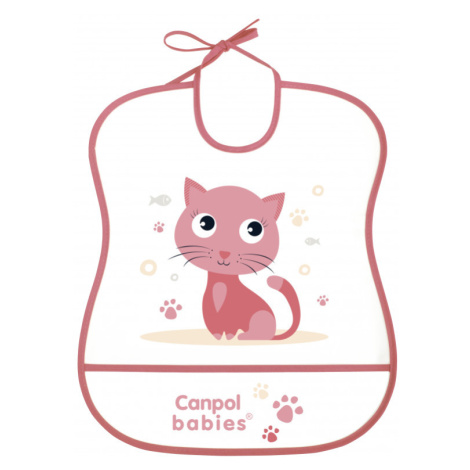 CANPOL BABIES Plastový podbradník mäkký Cute Animals mačka