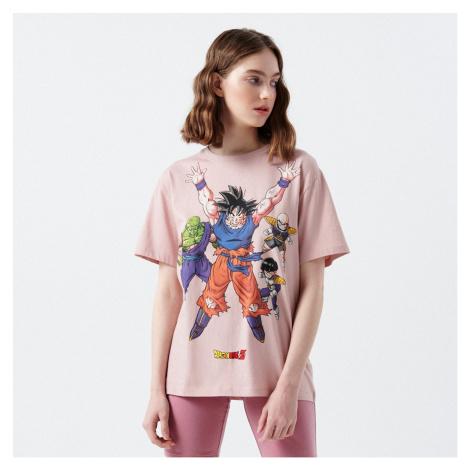 Cropp - Oversize tričko Dragon Ball - Krémová