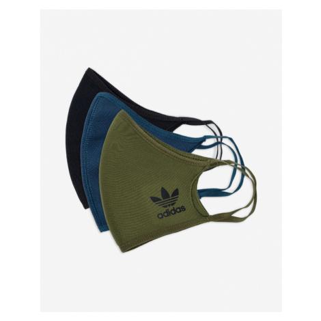 adidas Originals Rúška 3 ks Modrá Zelená