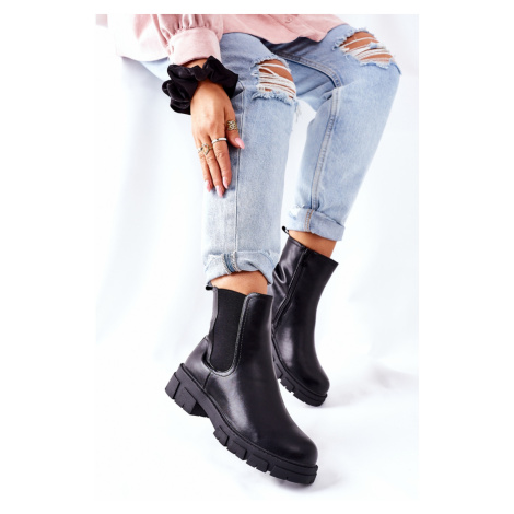 Women's Insulated Chelsea Boots Black Roulette