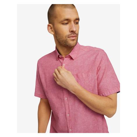 Košele s krátkym rukávom pre mužov Tom Tailor - ružová