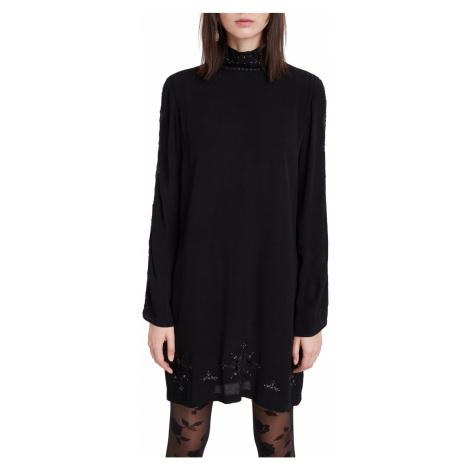 Desigual čierne šaty Vest Viena