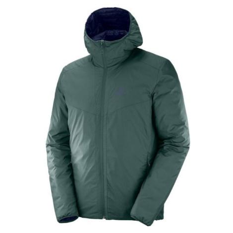 Salomon DRIFTER LOFT tmavo modrá - Pánska obojstranná bunda