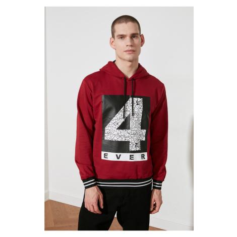 Trendyol Burgundy Men's Sweatshirt