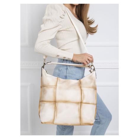 Béžová kabelka v patchwork štýle