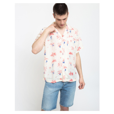 Dedicated Shirt Short Sleeve Marstrand Monkey Trees Off-White