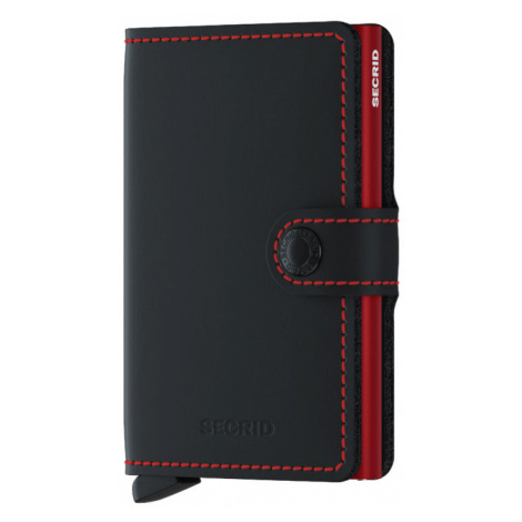 Secrid Miniwallet Matte Black & Red-One size čierne MM-Black-Red-One size