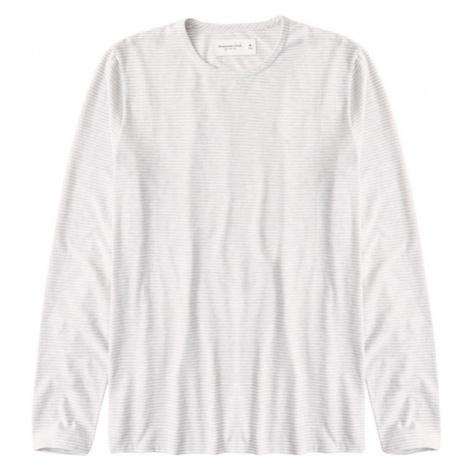 Abercrombie & Fitch Tričko  sivá / biela