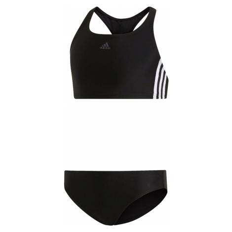 ADIDAS PERFORMANCE Športové plavky 'Fit 2PC 3S'  biela / čierna