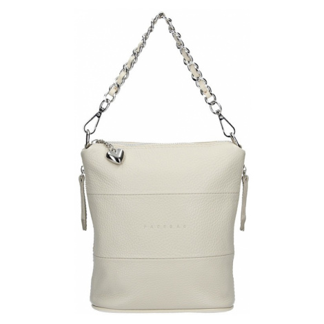 Dámska kožená kabelka Facebag Roberta - krémová