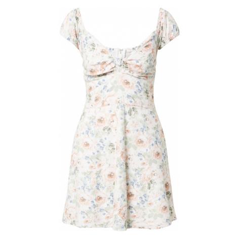 Abercrombie & Fitch Letné šaty  biela / ružová / svetlomodrá / olivová