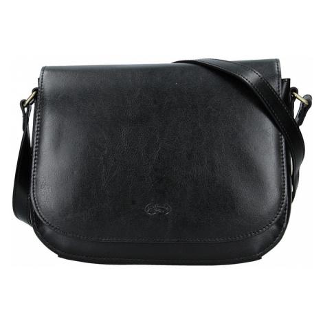 Kožená dámska crosbody kabelka Katana Zina - čierna