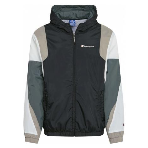 Champion Authentic Athletic Apparel Prechodná bunda  čierna / sivá