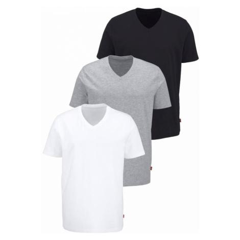 BRUNO BANANI Tričko  sivá melírovaná / čierna / biela