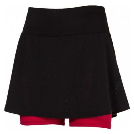 Progress SS MIA SKIRT čierna - Dámska bežecká sukňa 2v1