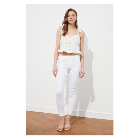 Trendyol White Button Detailed Blouse
