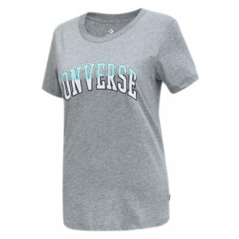 Converse Twisted Varsity Pattern Classic T-Shirt-M šedé 10018431-A01-M