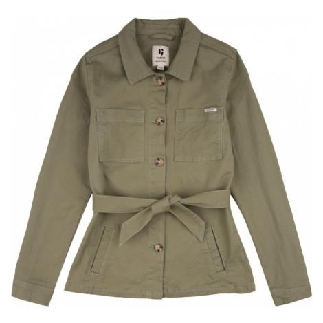 GARCIA Prechodná bunda  zelená / svetlooranžová / biela Garcia Jeans
