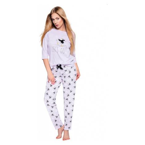 Dámske pyžamo Ellie svetlo fialové s tučniakmi Sensis