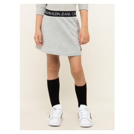 Calvin Klein Jeans Sukňa Logo Waistband Skirt IG0IG00414 Sivá