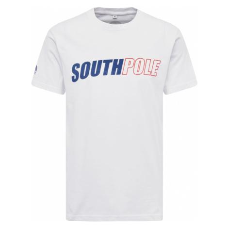 SOUTHPOLE Tričko 'Writing'  modrá / červená / biela