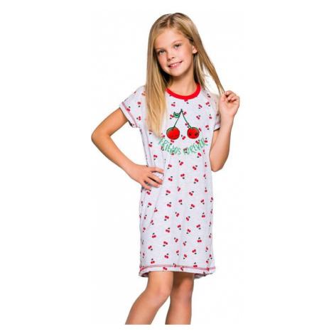 Dievčenská nočná košeľa Pepa šedá s čerešničkami Taro