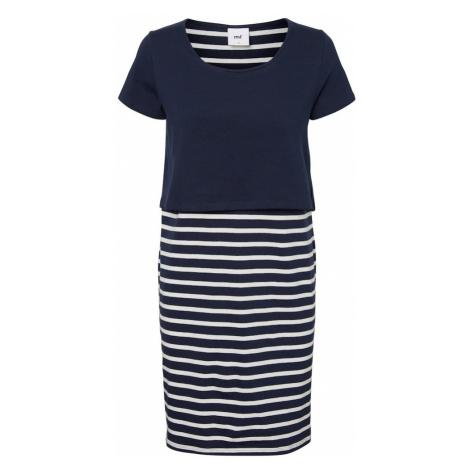 MAMALICIOUS Šaty  biela / námornícka modrá Mama Licious