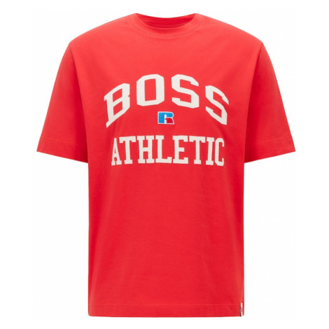 BOSS Casual Tričko 'Russell Athletic'  červená / biela / modrá