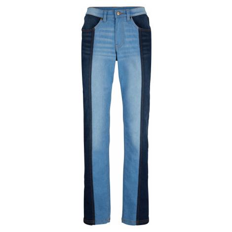 Strečové džínsy s pohodlným pásom, rovné bonprix