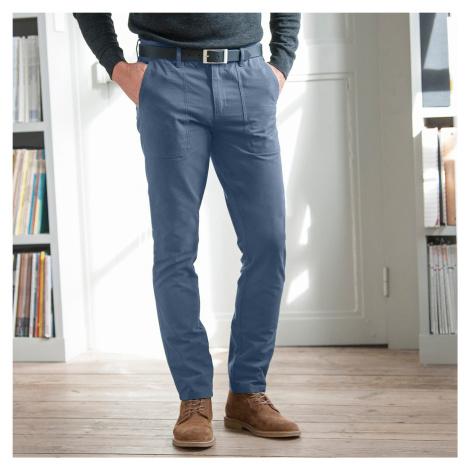 Blancheporte Chino nohavice v pracovnom štýle modrá džínsová