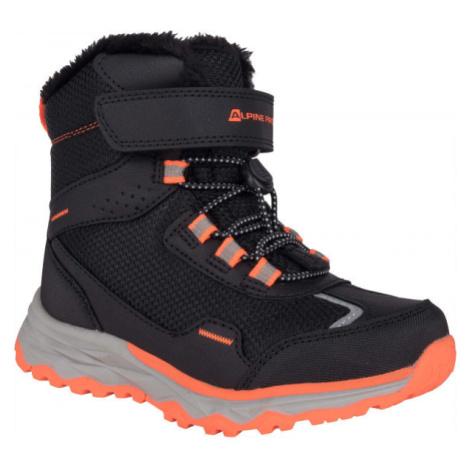 ALPINE PRO VESO čierna - Dievčenská zimná obuv