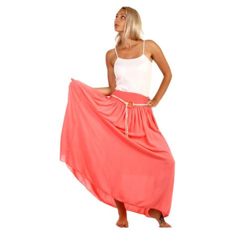 Dámska dlhá jednofarebná maxi sukňa