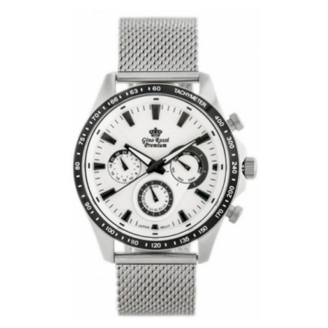 Pánske hodinky v striebornej farbe Gino Rossi PREMIUM S523B-3C1