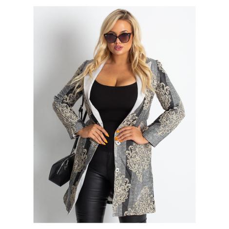Strieborný vzorovaný kabát